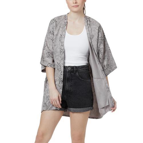 tentree Women's Sawara Cardigan Sweater Greyfloral_855