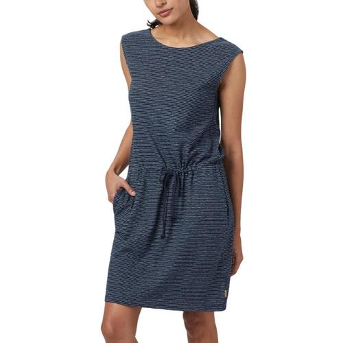 tentree Women's Icefall Dress Darkocean_760
