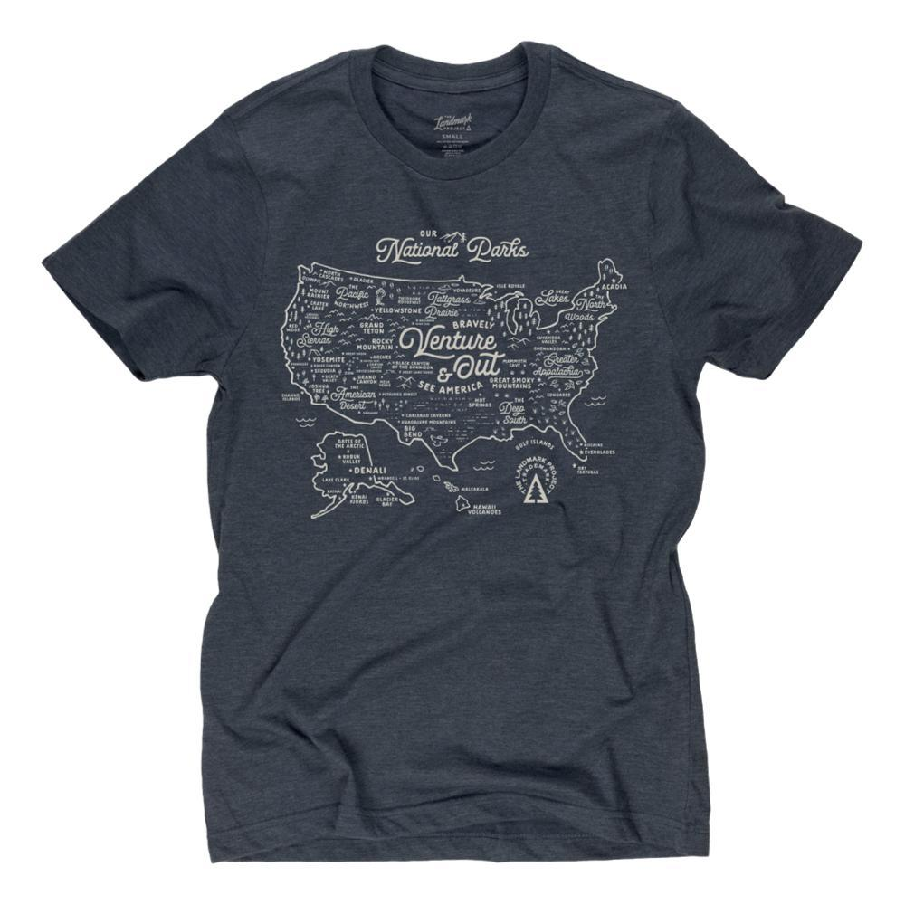 The Landmark Project Unisex NPS Map Tee  DEEPNAVY