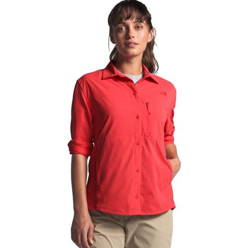 The North Face Women's Outdoor Trail Long Sleeve Shirt Red_nxg