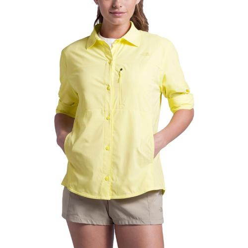 The North Face Women's Outdoor Trail Long Sleeve Shirt Yellow_vc5