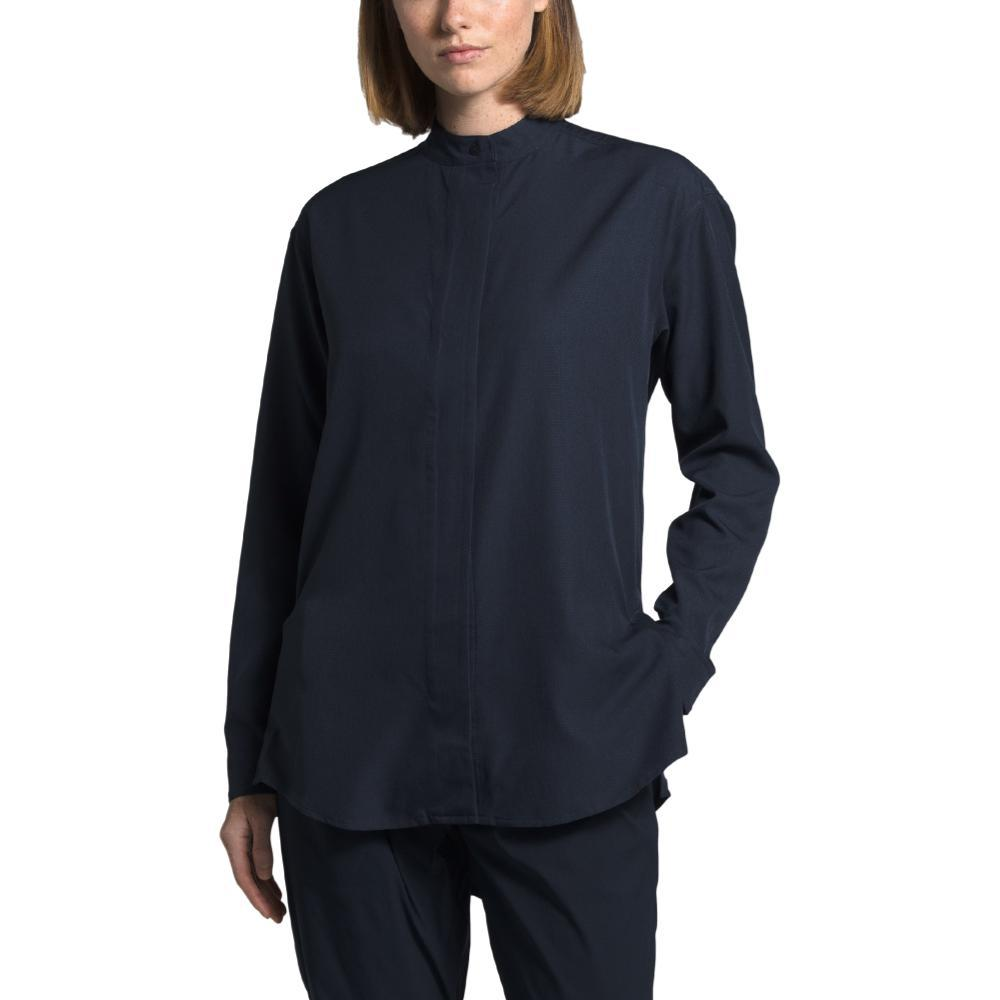 The North Face Women's Explore City BD Long Sleeve Shirt NAVY_H2G