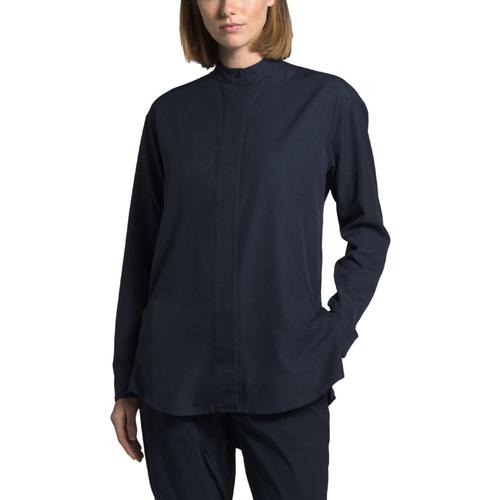 The North Face Women's Explore City BD Long Sleeve Shirt Navy_h2g