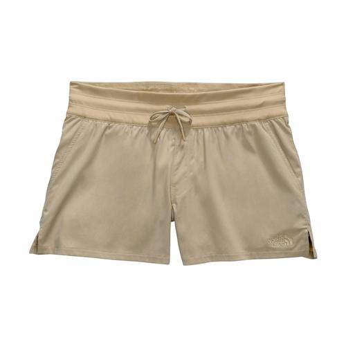 The North Face Women's Aphrodite Motion Shorts - 4in Beige_zdl