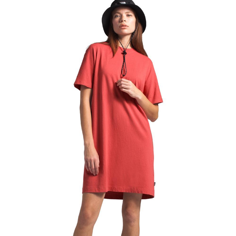 The North Face Women's Woodside Hemp Everfresh Tee Dress RED_PKB
