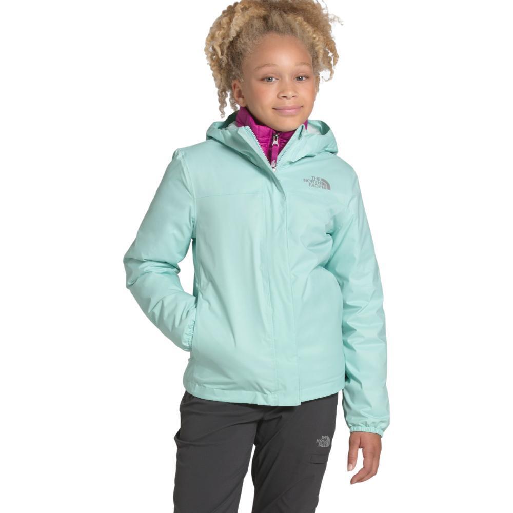 The North Face Girls Resolve Reflective Jacket CSTGRN_K27