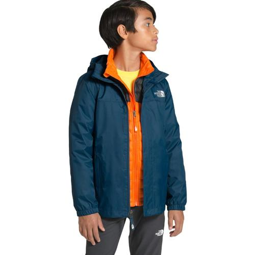 The North Face Boys Resolve Reflective Jacket Bluteal_n4l