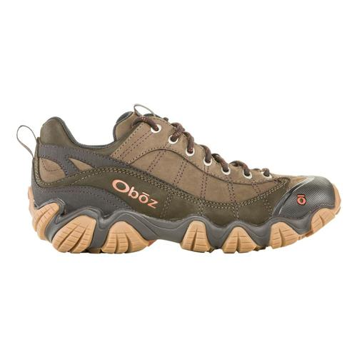 Oboz Men's Firebrand II Low Leather Hiking Shoes Stone