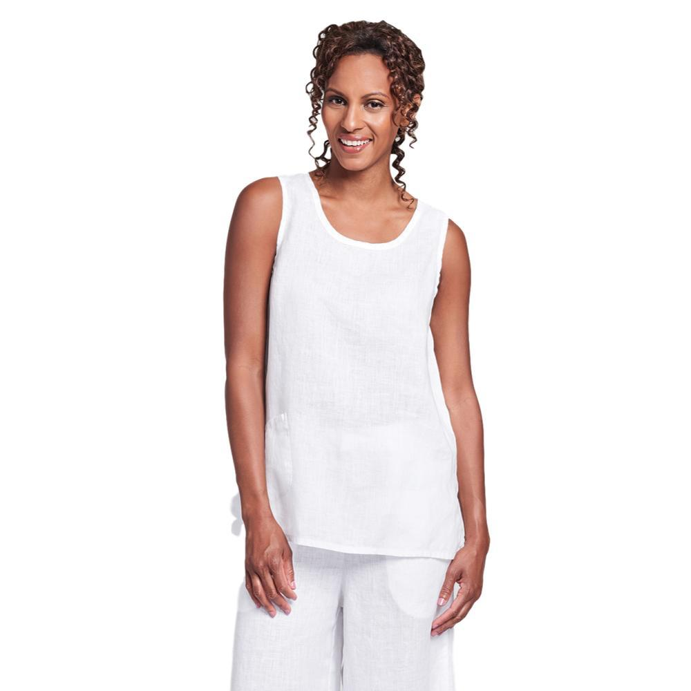FLAX Women's Pocket Tank Top WHITE