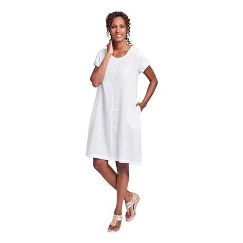 FLAX Women's Garden Party Dress White