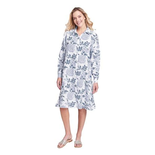 FLAX Women's Shirtdress Bluenightflr