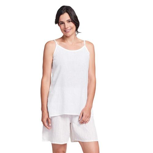 FLAX Women's Generous Late Night Cami White