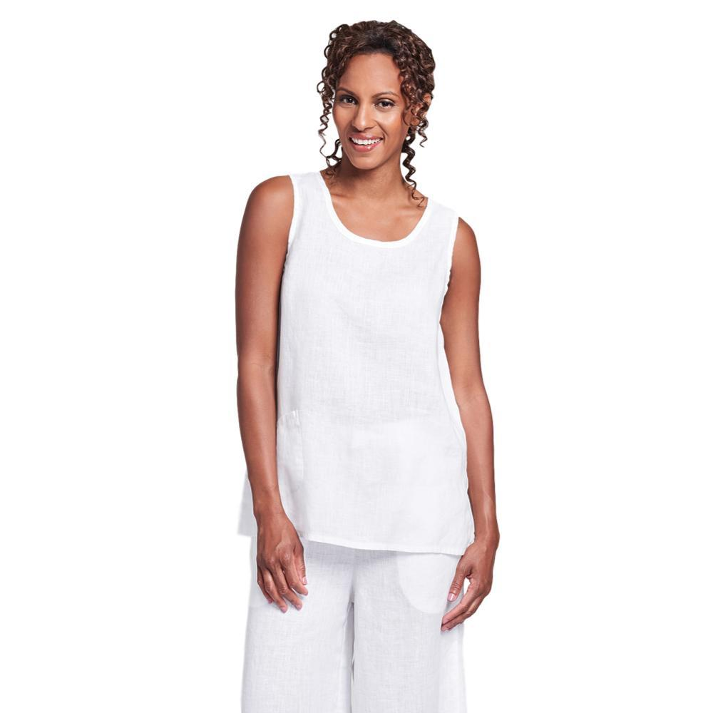 FLAX Women's Generous Pocket Tank Top WHITE