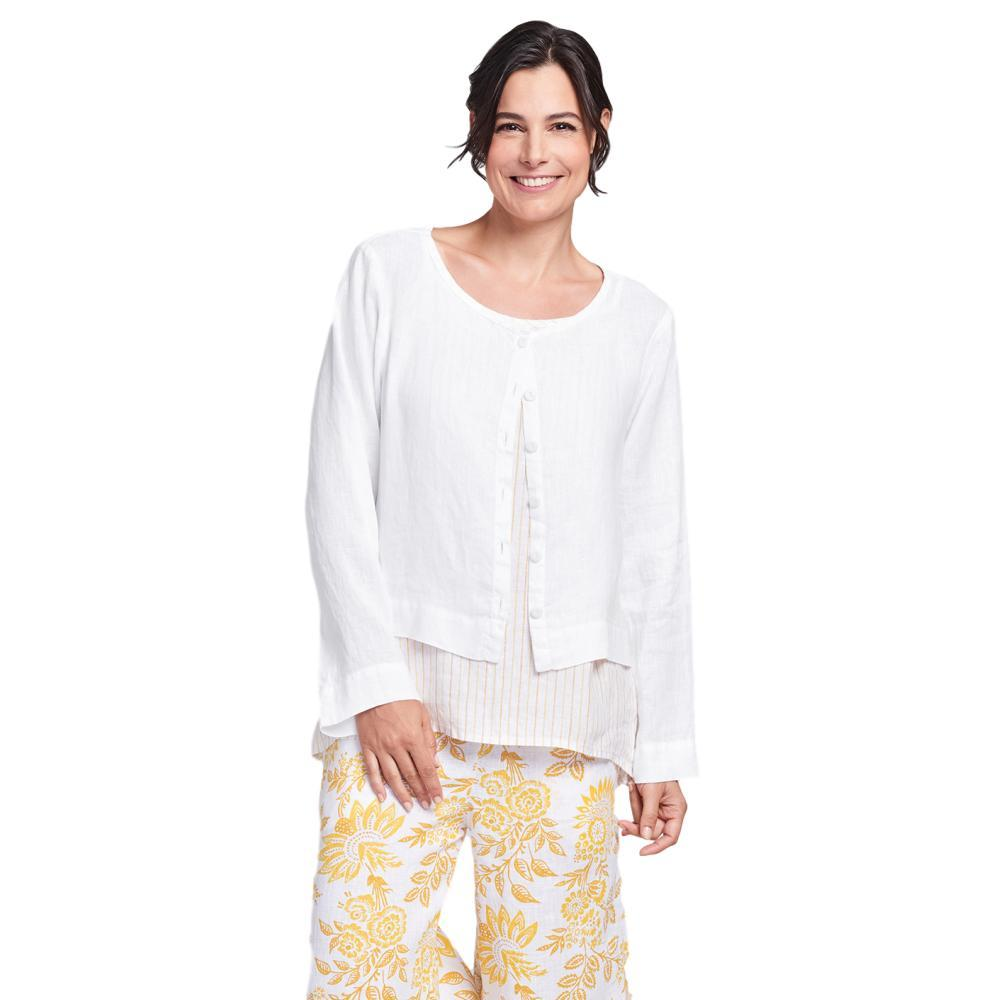 FLAX Women's Generous Day Cardi Top WHITE