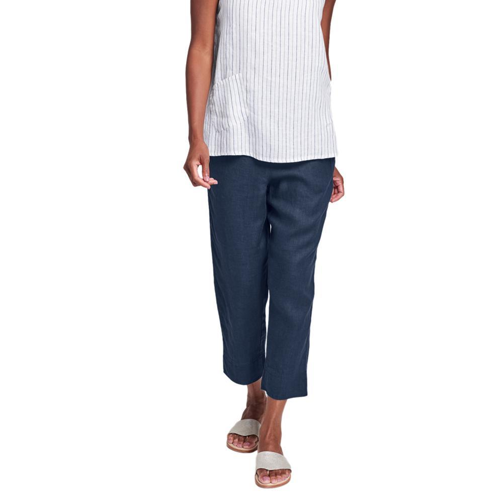FLAX Women's Generous Garden Crop Pants BLUENIGHT