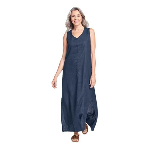 FLAX Women's Generous Open Dress Bluenight