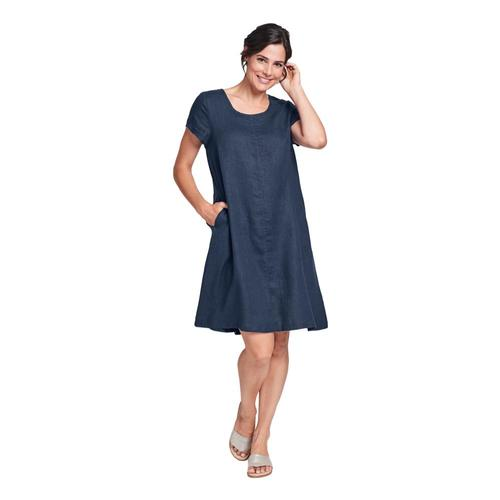 FLAX Women's Generous Garden Party Dress Bluenight