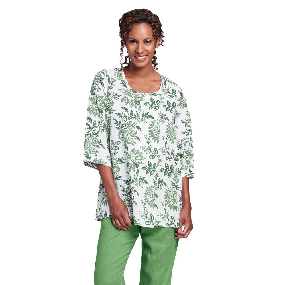 FLAX Women's Tucked Tunic Top IVYFLORAL