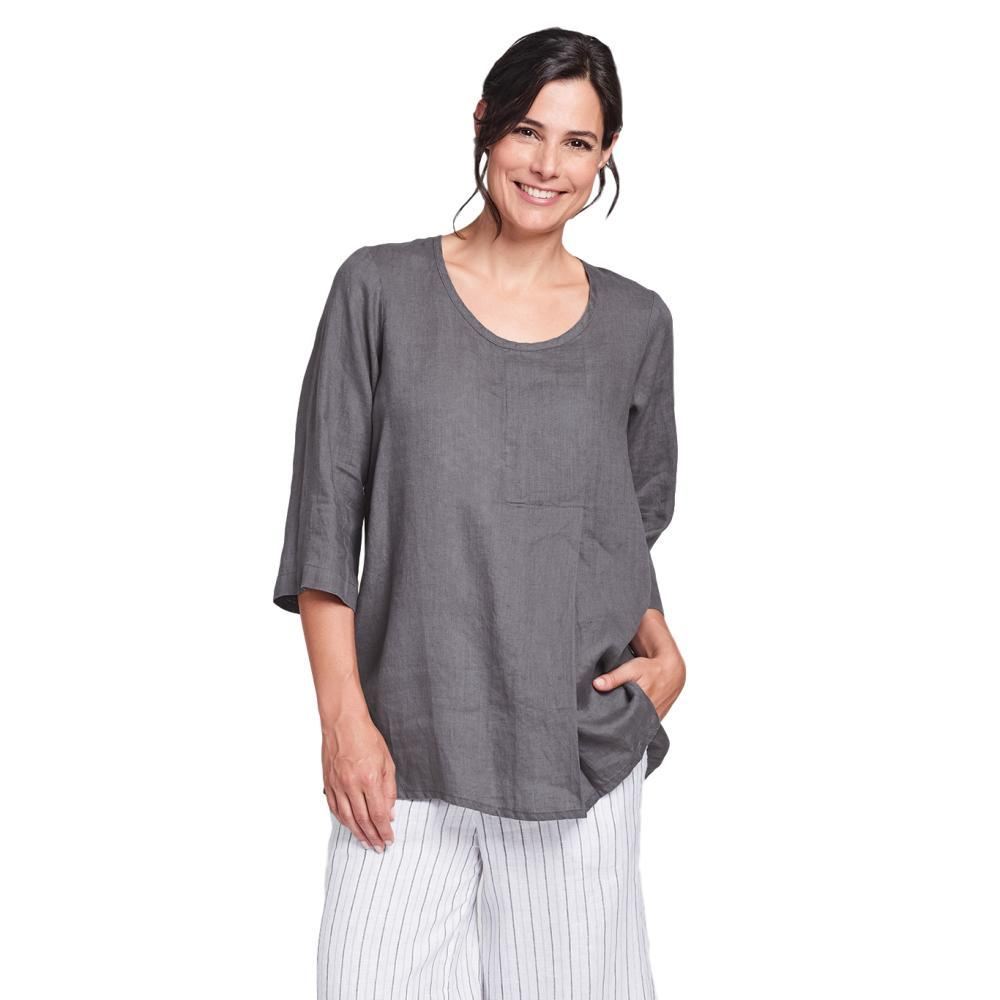 FLAX Women's Tucked Tunic Top PEWTER
