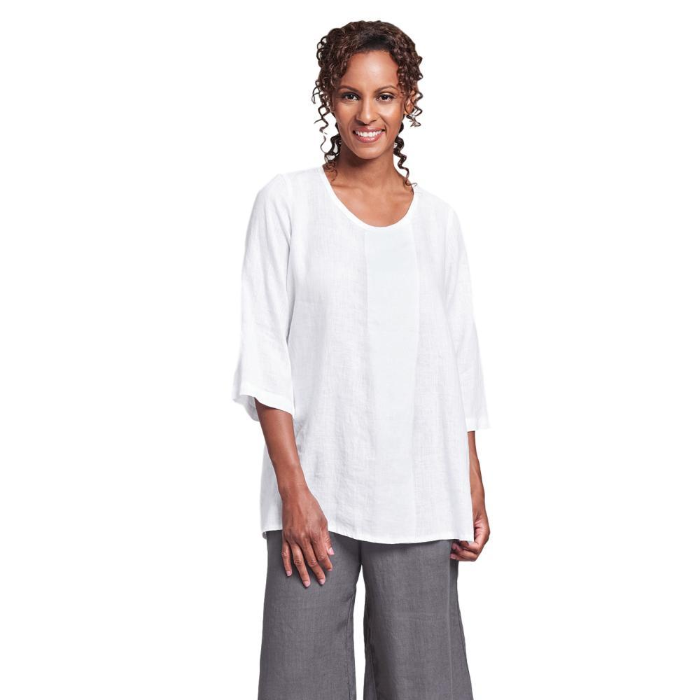 FLAX Women's Tucked Tunic Top WHITE