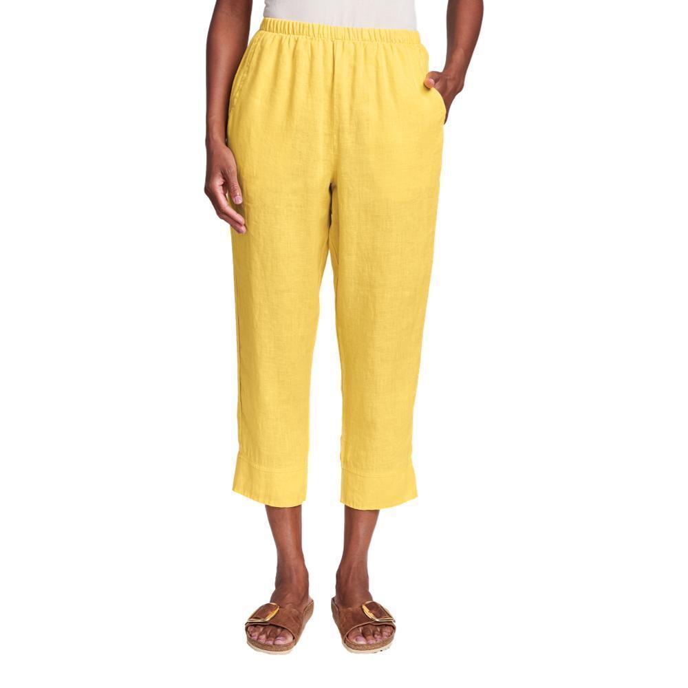 FLAX Women's Garden Crop Pants DAFFODIL