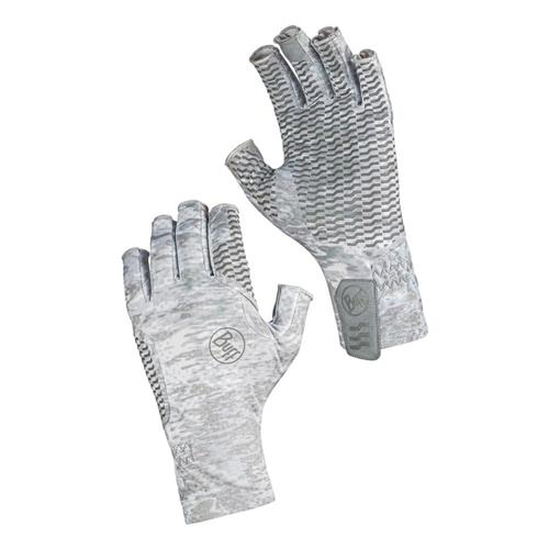 BUFF Original Aqua Gloves Large - Camo White Pelacwhite