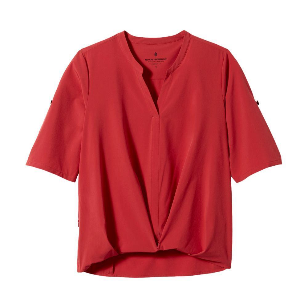 Royal Robbins Women's Spotless Traveler Short Sleeve Shirt CHRYSNTHM_627