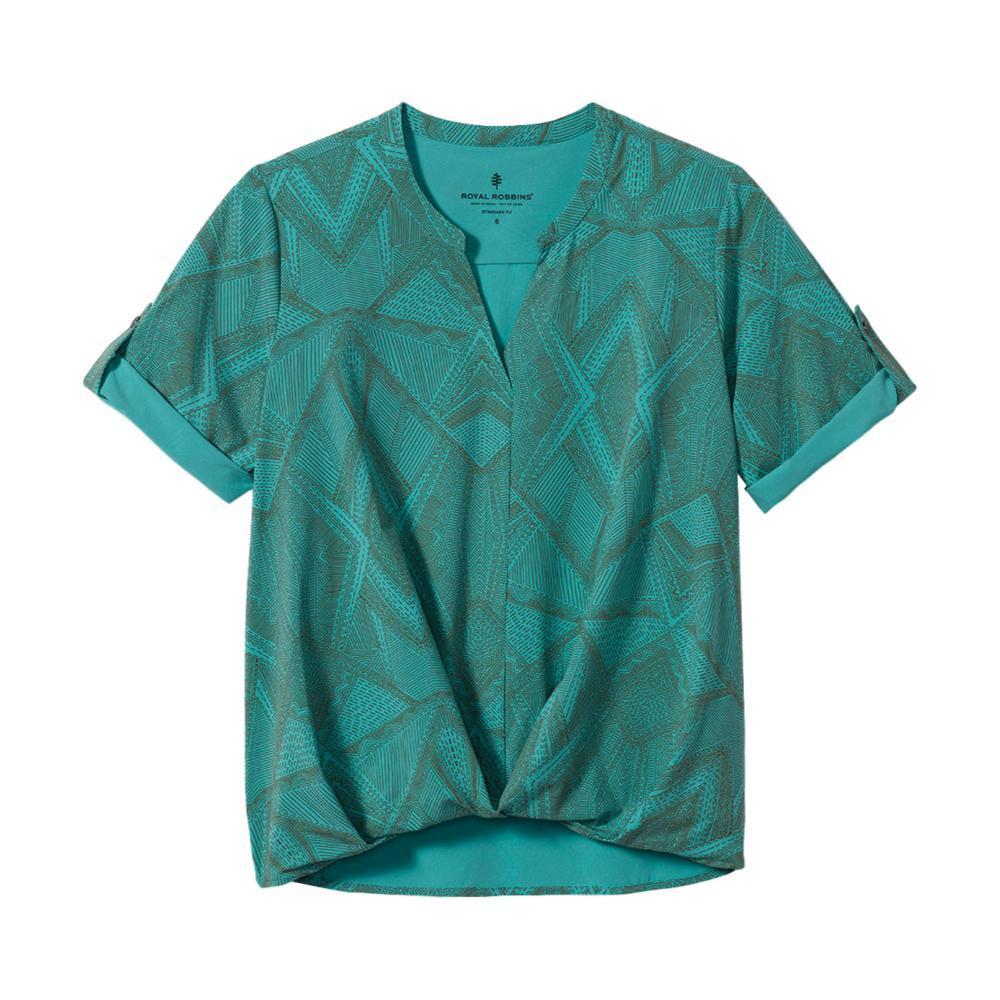 Royal Robbins Women's Spotless Traveler Short Sleeve Shirt TURQUOISE_795
