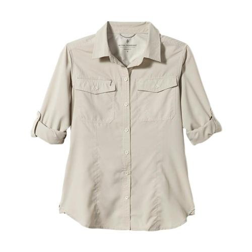 Royal Robbins Women's Expedition Long Sleeve Shirt Soapstone_151