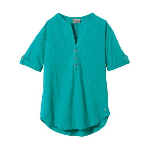 Royal Robbins Women's Oasis Tunic II 3/4 Sleeve Turquoise_795