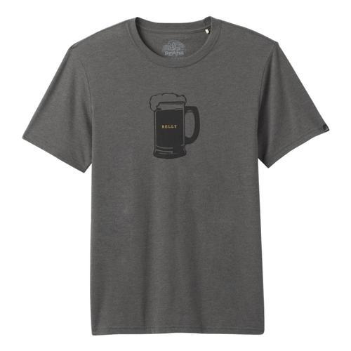 prAna Men's Beer Belly Journeyman T-Shirt Charcoalht