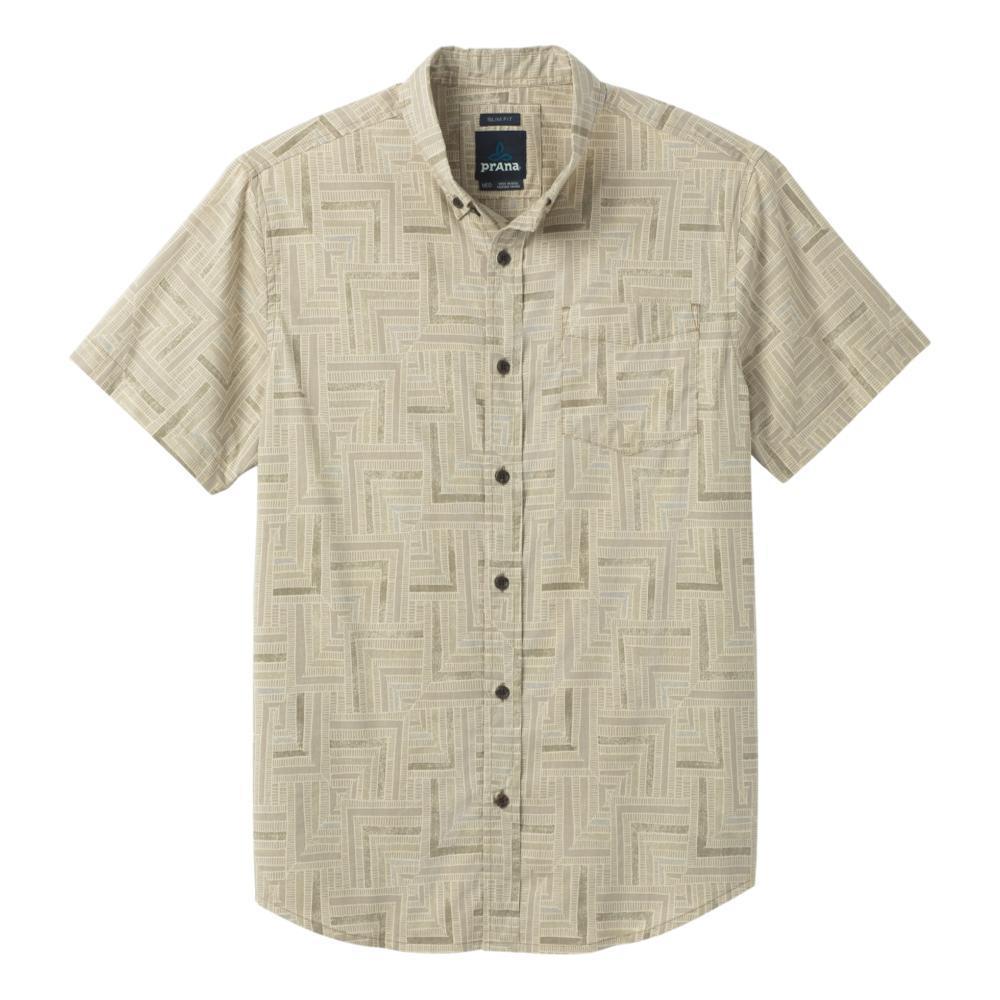 prAna Men's Broderick Slim Short Sleeve Shirt DKKHAKI