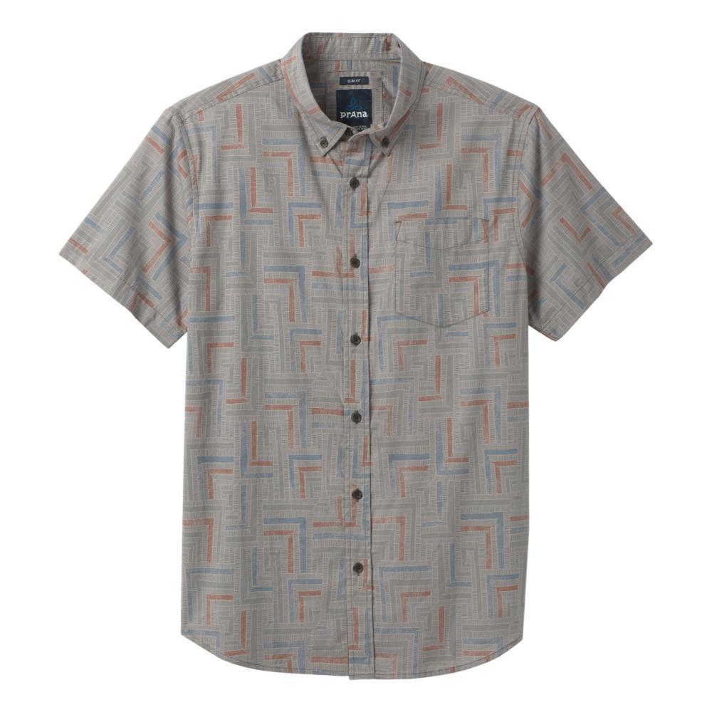 prAna Men's Broderick Slim Short Sleeve Shirt GRAVEL