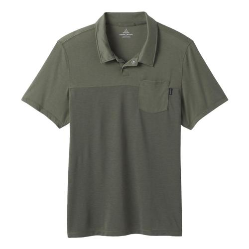 prAna Men's Milo Polo Shirt Ryegreen