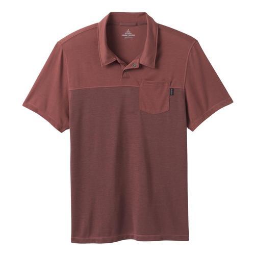 prAna Men's Milo Polo Shirt Vino
