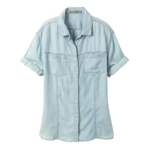 prAna Women's Ezra Top Plus Vintageblue