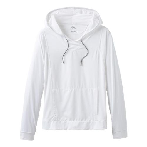prAna Women's Odea Hooded Sun Shirt White