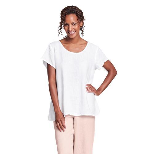 FLAX Women's Blossom Blouse White