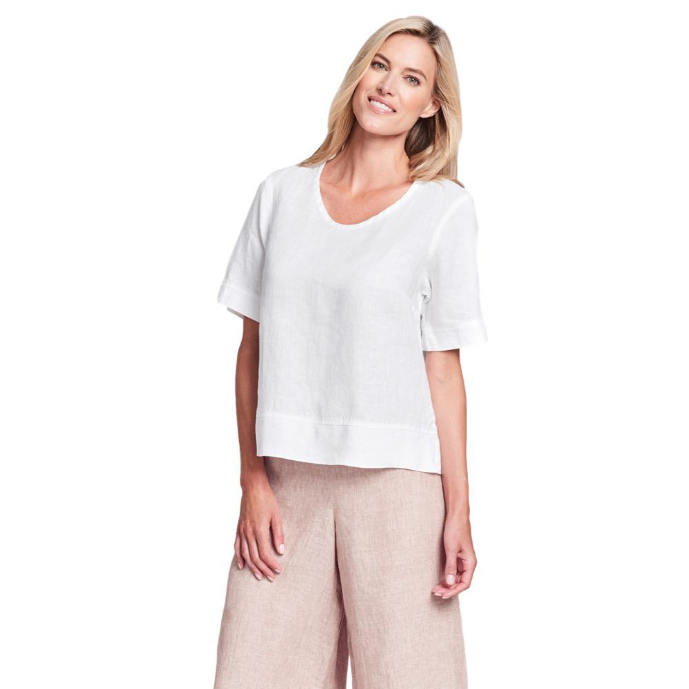 FLAX Women's Generous Linear Crop Shirt CREAM