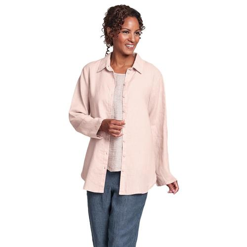 FLAX Women's Crossroads Blouse Blush
