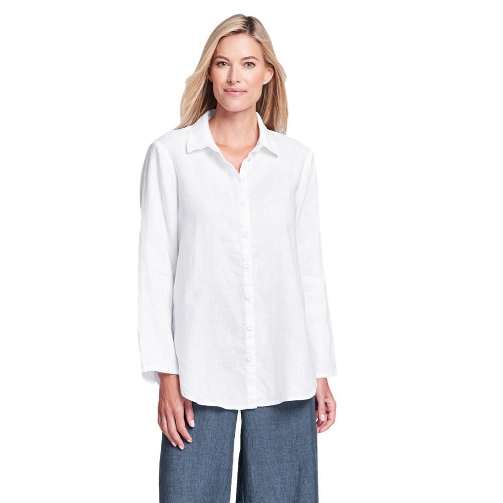 FLAX Women's Crossroads Blouse WHITE