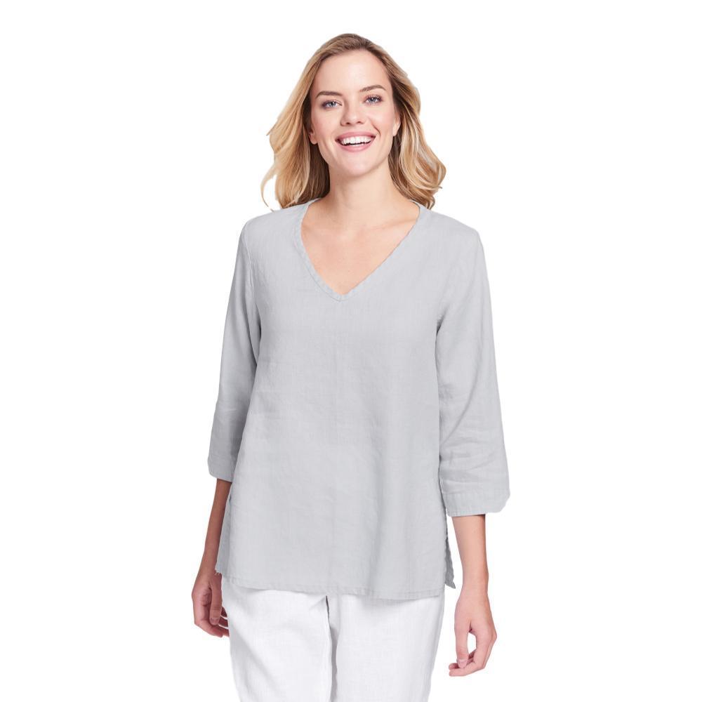 FLAX Women's Generous V Pullover Shirt DOVE