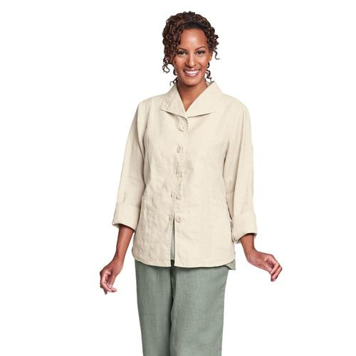 FLAX Women's Shapely Caper Jacket Biscuit