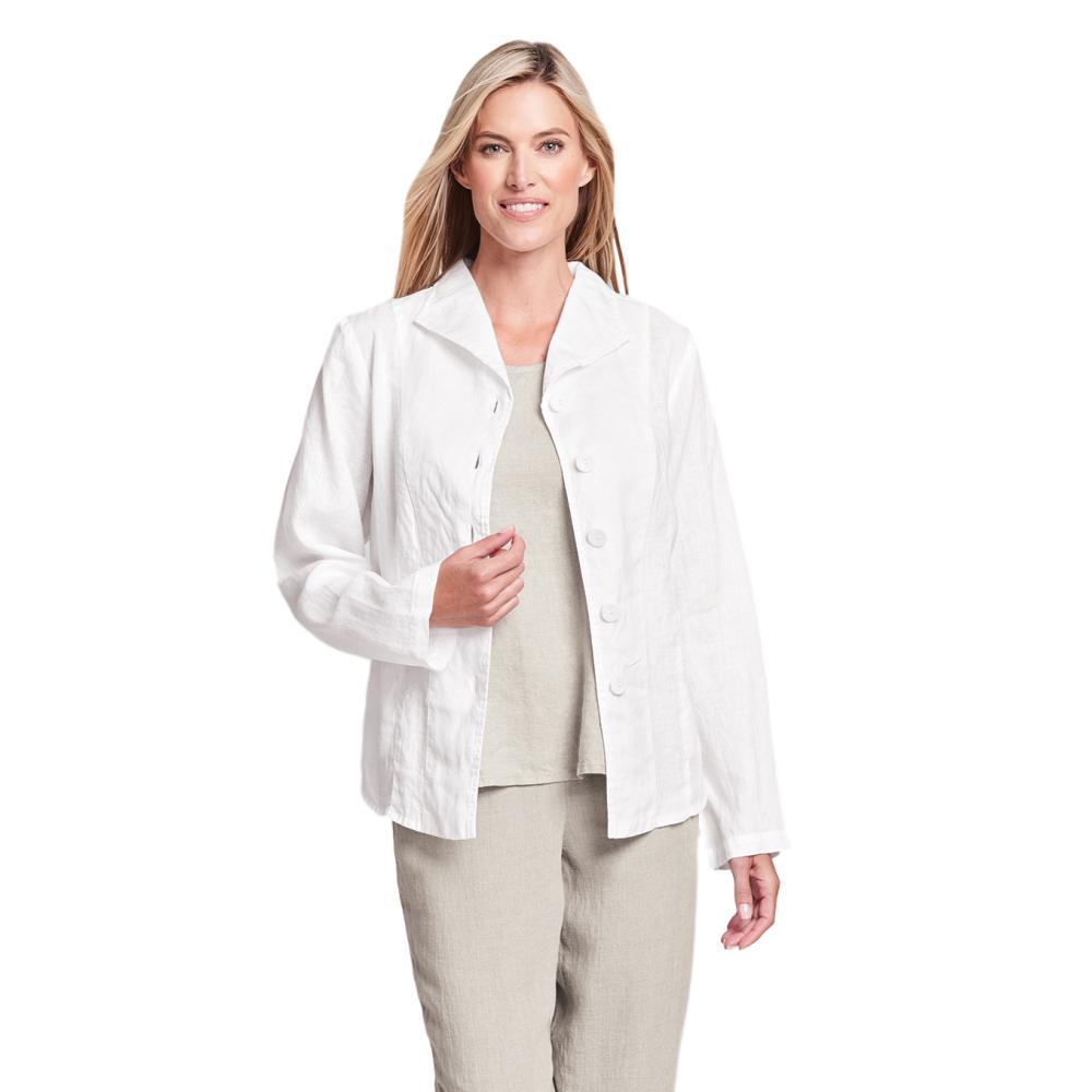 FLAX Women's Shapely Caper Jacket CREAM
