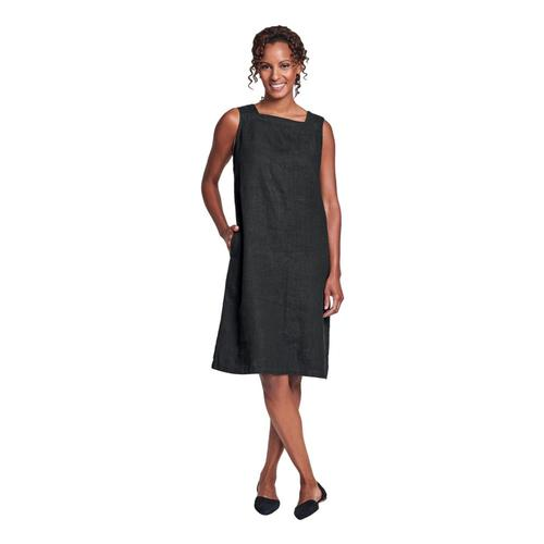 FLAX Women's Square Neck Dress Black