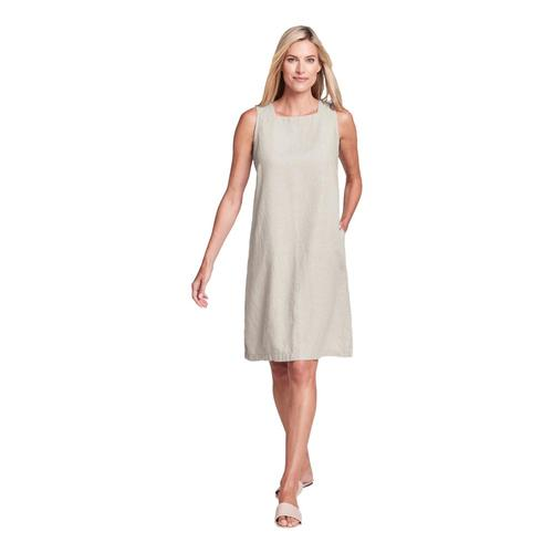 FLAX Women's Square Neck Dress Natural