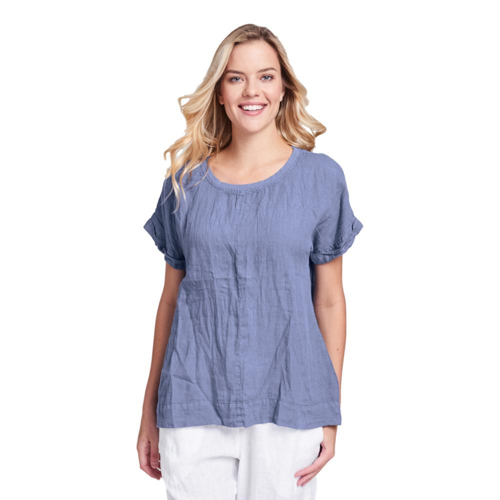 FLAX Women's Tee Top INDIGO