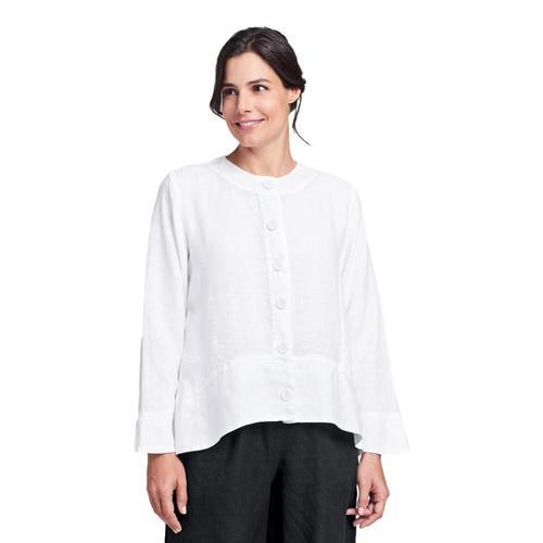 FLAX Women's Contour Jacket White