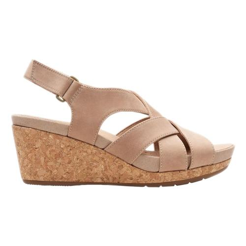 Clarks Women's Un Capri Step Wedge Sandals Sandnbk