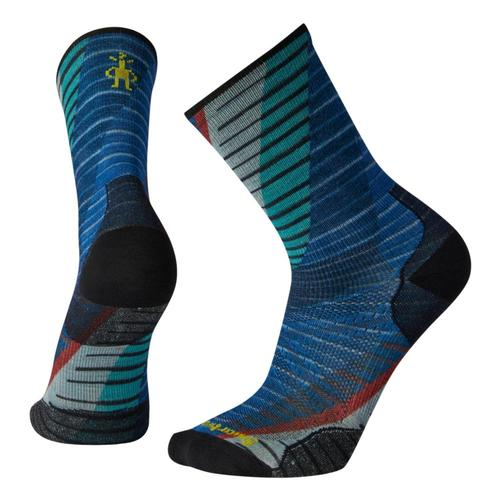 Smartwool Unisex PhD Run Ultra Light Print Crew Socks Brblue_378
